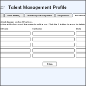 Web and Interactivity - Talent Management Application - David DeSouza, Designer